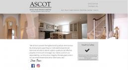 MODX website design and build for Ascot Build and Design