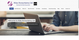 WordPress website development and search engine optimisation services for Atlas Accountancy